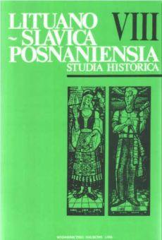 Lituano-Slavica Posnaniensia. Studia Historica VIII
