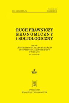 Ruch Prawniczy, Ekonomiczny i Socjologiczny 2/2018