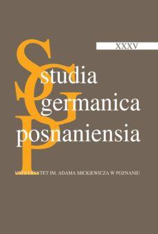 Studia Germanica Posnaniensia, v. XXXV