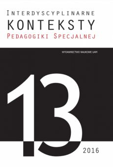Interdyscyplinarne Konteksty Pedagogiki Specjalnej 13/2016