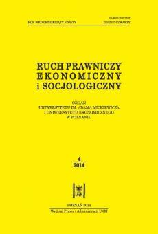 Ruch Prawniczy, Ekonomiczny i Socjologiczny 4/2014