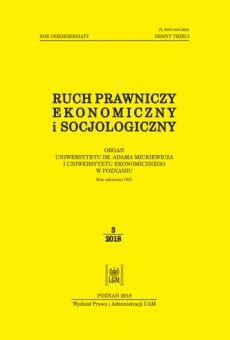 Ruch Prawniczy, Ekonomiczny i Socjologiczny 3/2018