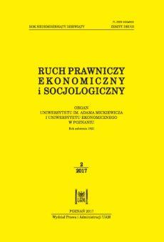 Ruch Prawniczy, Ekonomiczny i Socjologiczny 2/2017
