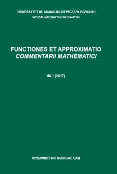 Functiones et Approximatio. Commentarii Mathematici 56.1 (2017)