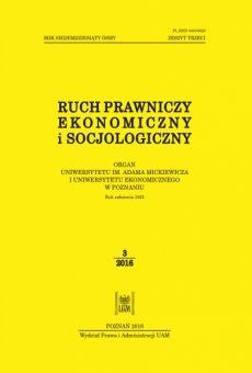 Ruch Prawniczy, Ekonomiczny i Socjologiczny 3/2016