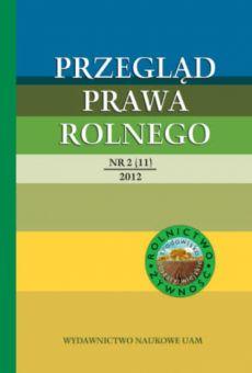 Przegląd Prawa Rolnego 2(11)/2012
