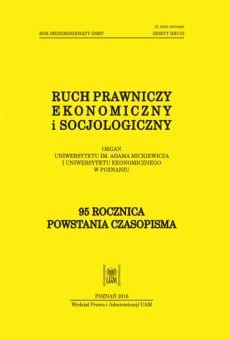 Ruch Prawniczy, Ekonomiczny i Socjologiczny 2/2016