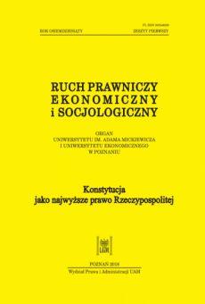 Ruch Prawniczy, Ekonomiczny i Socjologiczny 1/2018