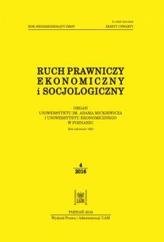 Ruch Prawniczy, Ekonomiczny i Socjologiczny 4/2016