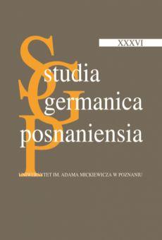 Studia Germanica Posnaniensia, v. XXXVI