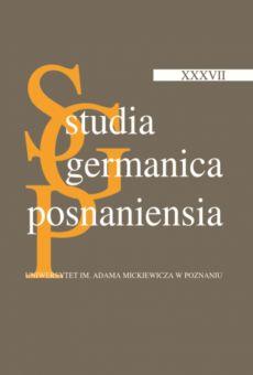 Studia Germanica Posnaniensia, v. XXXVII
