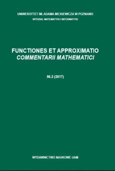 Functiones et Approximatio. Commentarii Mathematici 56.2 (2017)