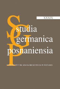 Studia Germanica Posnaniensia, v. XXXIX