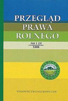 Przegląd Prawa Rolnego 1(3)/2008