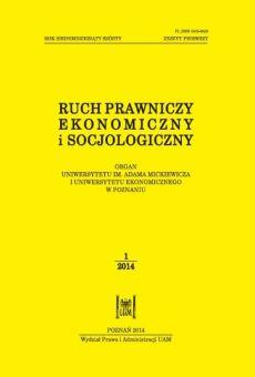 Ruch Prawniczy, Ekonomiczny i Socjologiczny 1/2014