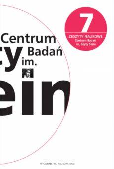 Zeszyty Naukowe Centrum Badań im. Edyty Stein nr 7
