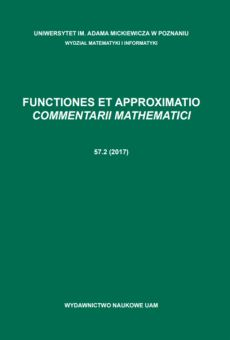 Functiones et Approximatio. Commentarii Mathematici 57.2 (2017)