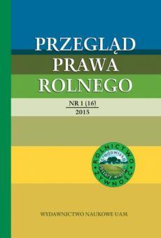 Przegląd Prawa Rolnego 1(16)/2015