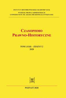 Czasopismo Prawno-Historyczne, tom LXXII, zeszyt 2