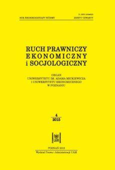 Ruch Prawniczy, Ekonomiczny i Socjologiczny 4/2015