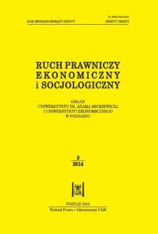 Ruch Prawniczy, Ekonomiczny i Socjologiczny 3/2014