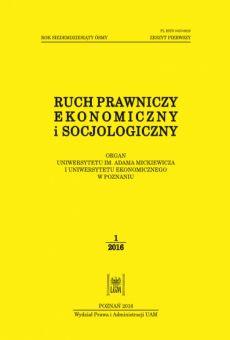 Ruch Prawniczy, Ekonomiczny i Socjologiczny 1/2016