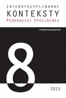 Interdyscyplinarne Konteksty Pedagogiki Specjalnej 8/2015