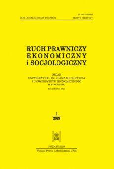 Ruch Prawniczy, Ekonomiczny i Socjologiczny 1/2019