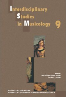 Interdisciplinary Studies in Musicology 9