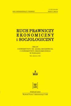 Ruch Prawniczy, Ekonomiczny i Socjologiczny 2/2019