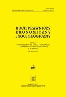 Ruch Prawniczy, Ekonomiczny i Socjologiczny 4/2017
