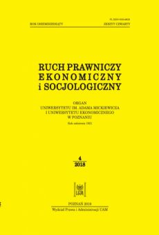Ruch Prawniczy, Ekonomiczny i Socjologiczny 4/2018