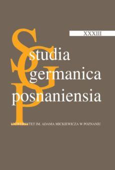 Studia Germanica Posnaniensia, v. XXXIII