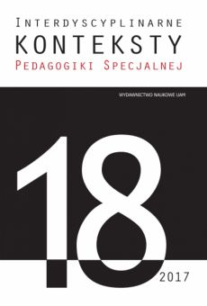 Interdyscyplinarne Konteksty Pedagogiki Specjalnej 18/2017
