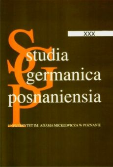 Studia Germanica Posnaniensia, v. XXX