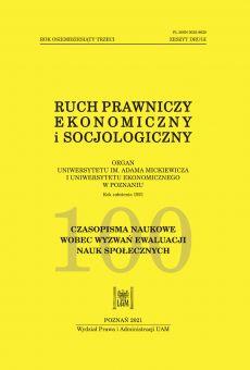 Ruch Prawniczy, Ekonomiczny i Socjologiczny 2/2021