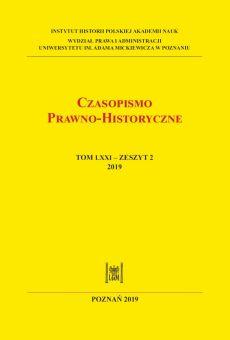 Czasopismo Prawno-Historyczne, tom LXXI, zeszyt 2