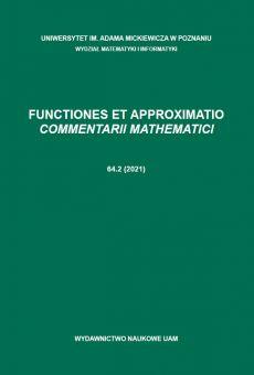 Functiones et Approximatio. Commentarii Mathematici 64.2 (2021)