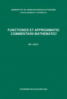 Functiones et Approximatio. Commentarii Mathematici 65.1 (2021)