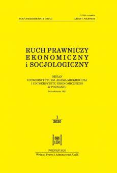 Ruch Prawniczy, Ekonomiczny i Socjologiczny 1/2020