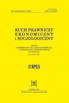 Ruch Prawniczy, Ekonomiczny i Socjologiczny 1/2021