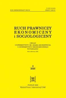 Ruch Prawniczy, Ekonomiczny i Socjologiczny 2/2020