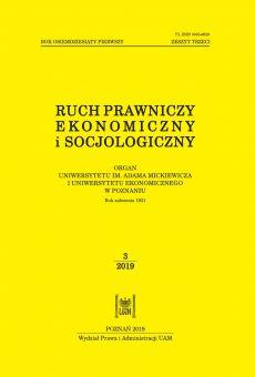 Ruch Prawniczy, Ekonomiczny i Socjologiczny 3/2019