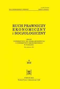 Ruch Prawniczy, Ekonomiczny i Socjologiczny 4/2019