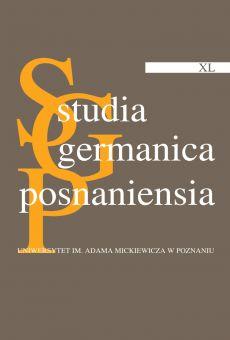 Studia Germanica Posnaniensia, v. XL