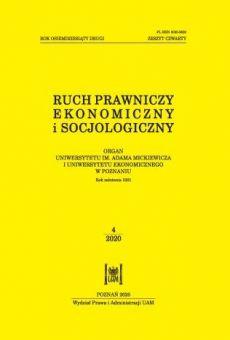 Ruch Prawniczy, Ekonomiczny i Socjologiczny 4/2020