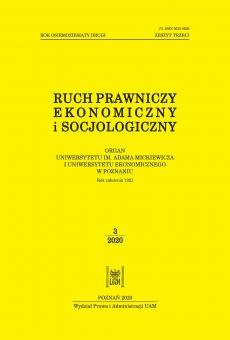 Ruch Prawniczy, Ekonomiczny i Socjologiczny 3/2020